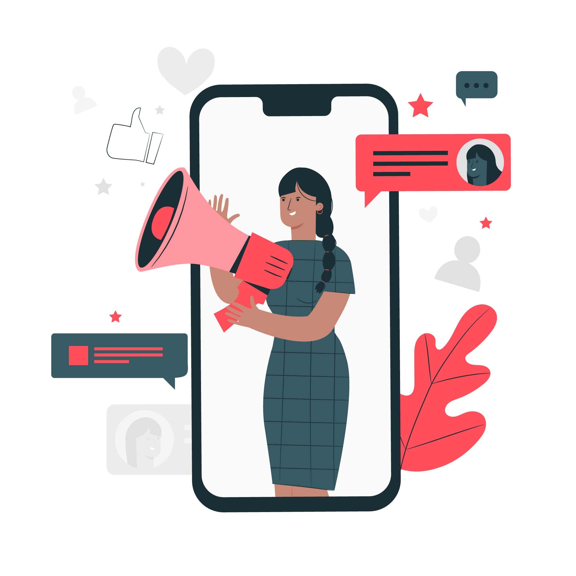 Push on social media
